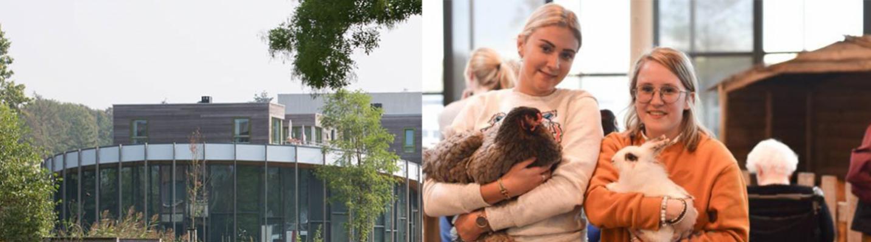 Studenten Dulon College helpen in verpleeghuis Walraven